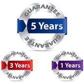 Guarantee seal designs — Stock Vector