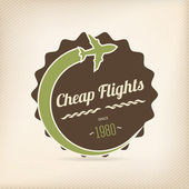 Cheap flights badge — Stock Vector