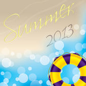 Summer wallpaper design — Stock Vector
