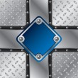 Metallic blue plate  — Stockvektor