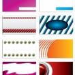 Set of 8 business cards — Stock Vector