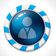 Swirling button with social network icon — Image vectorielle