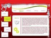 Zippered web template — Stock Vector