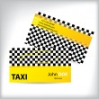 Taxi business card ideal for taxi drivers — Stock Vector