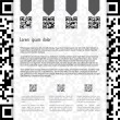 Stock Vector: Qr coded website template design