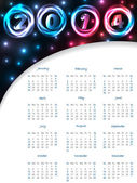 Cool 2014 plasma calendar — Stock Vector