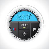 Climatronic gauge design — Stock Vector