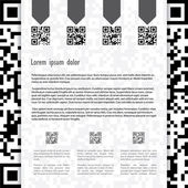 Qr coded website template design — Stock Vector