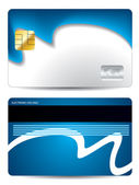 Cool wave credit card design — Stock Vector