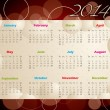 2014 calendar with bubbles and circles — Stock Vector