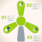 ökologie-business-infografiken-template — Stockvektor