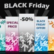 Black friday label set — Stock Vector #33147427
