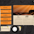 Transportation web template design — Stock Vector