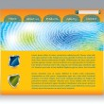 Fingerprinted web template — Stock Vector #3401054