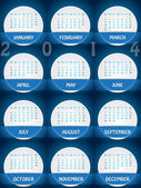 2014 calendar design with white labels — Vettoriale Stock