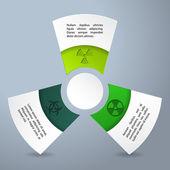 Infographic design with bio hazard labels — Stock Vector