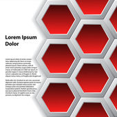 Red hexagons brochure background — 图库矢量图片