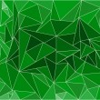 Abstract green background with polygons — Stock vektor