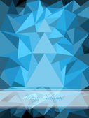Blue christmas greeting with abstract tree — Stock Vector