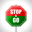 Stop and go sign for racers — Stock Vector #39462861