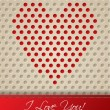Valentine card with heart shaped dots — Stock Vector #39462933