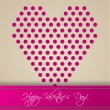 Valentine greeting card design with heart shape — Stock Vector