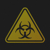 Bio hazard sign on striped background — Stock Vector