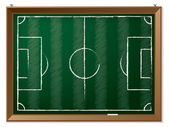 Soccer field drawn on chalkboard — Stockvector