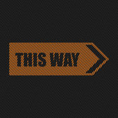 This way sign on black background — Vector de stock