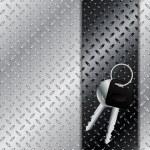 Keys on metallic plate — Stock Vector #41118847