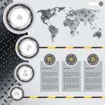Website design with industrial and metallic elements — Stock Vector