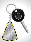 Key with metallic keyholder — Stock Vector