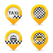 Gps pointers with taxi specific elements — Stock Vector