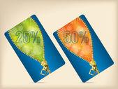 Gift card set — Stock Vector