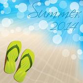 Summer background design with flip flops — Stock Vector