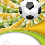 Abstract soccer wallpaper design — Stock Vector #45565261