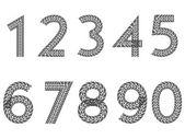 Tire tread number set — Stock Vector