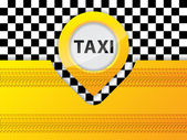 Taxi background design with tire treads — Stock Vector