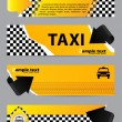 Cool taxi company banner set of 4 — Stock Vector #47558545