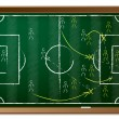 Soccer tactics drawn on blackboard — Stock Vector