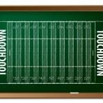 American football field drawn on chalkboard — Stock Vector
