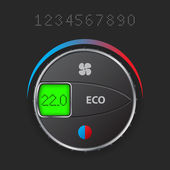 AC control with editable lcd — Vector de stock