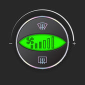 Air flow control with green display  — Vector de stock