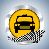 Metallic taxi badge design — Stock Vector