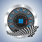 Speedometer with rev counter — Stock Vector