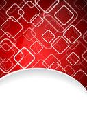 Red brochure design — Stock Vector