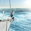 Yacht in the ocean — Stock Photo