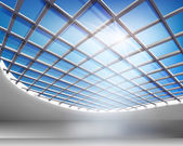 Sala di vetro — Vettoriale Stock