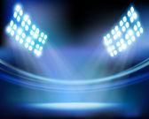 Luci di stadio. illustrazione vettoriale. — Vettoriale Stock