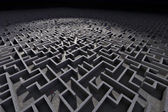 Man in labyrinth — Stock Photo
